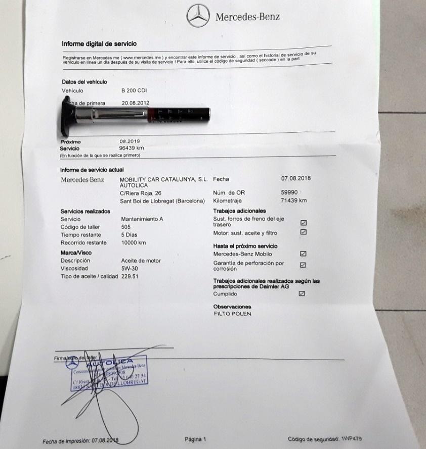 20 - Mercedes B Class 2012 - AUTO